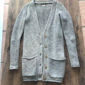 Aritzia Wilfred grey alpaca sweater cardigan